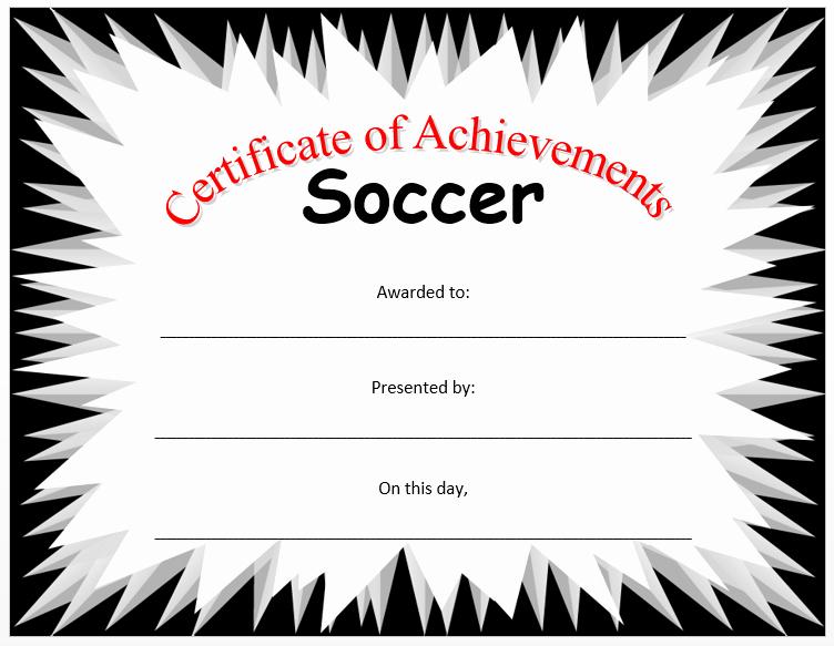 Soccer Award Certificate Templates Fresh soccer Certificate Template Microsoft Word Templates