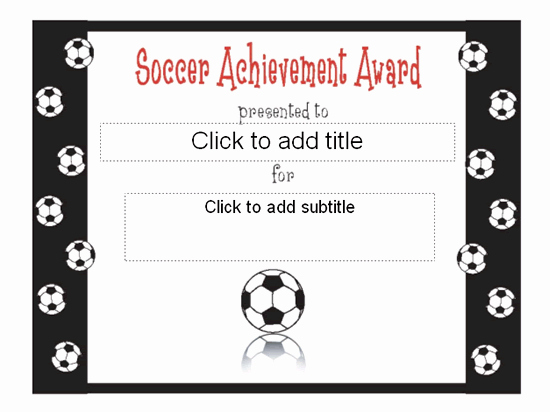 Soccer Award Certificates Templates Awesome soccer Achievement Award Certificate Free Certificate