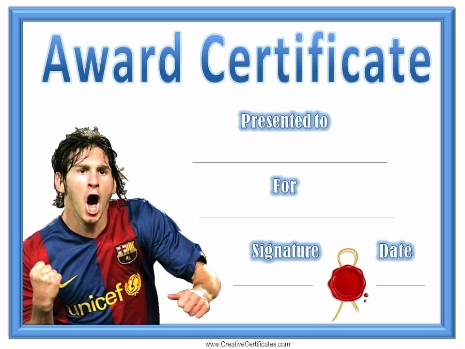 Soccer Award Certificates Templates Best Of Free Editable soccer Certificates Customize Line