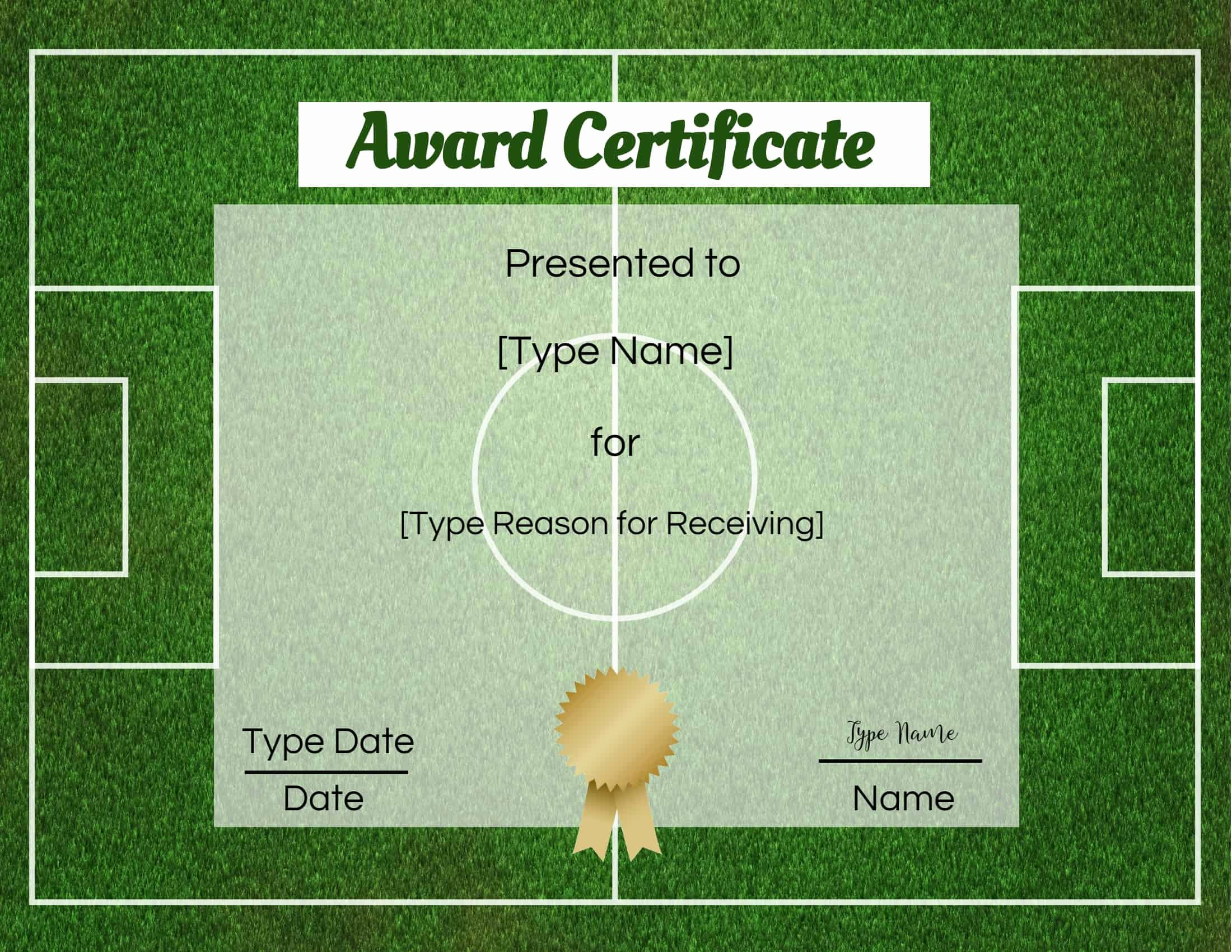 Soccer Award Certificates Templates Inspirational Free soccer Certificate Maker