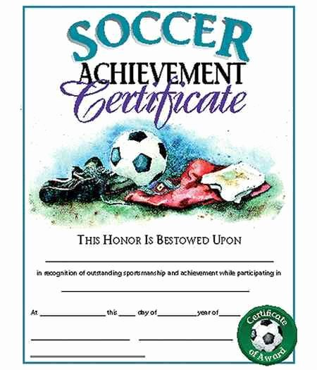 Soccer Award Certificates Templates Luxury 8 Best Images About Certificate On Pinterest