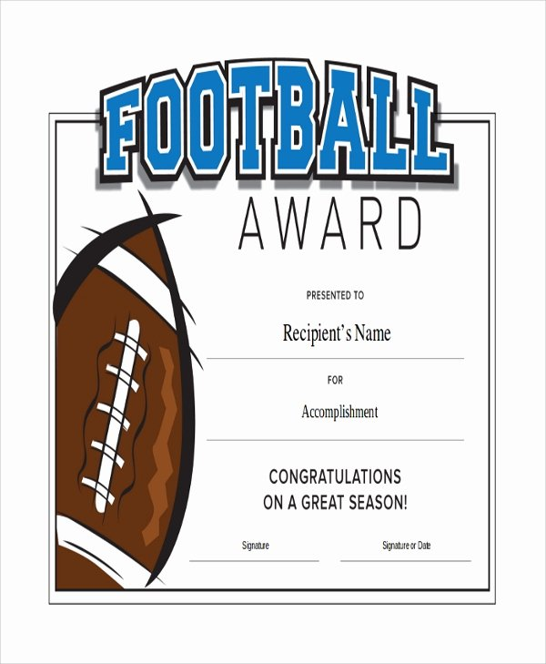 Soccer Award Certificates Templates Unique Sample Certificate 47 Examples In Pdf Word Ai
