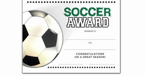 Soccer Awards Certificates Templates Elegant soccer End Of Season Award Certificate Free
