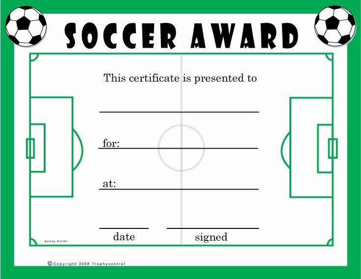 Soccer Awards Certificates Templates Lovely Free soccer Certificates $0 00 for the Kids