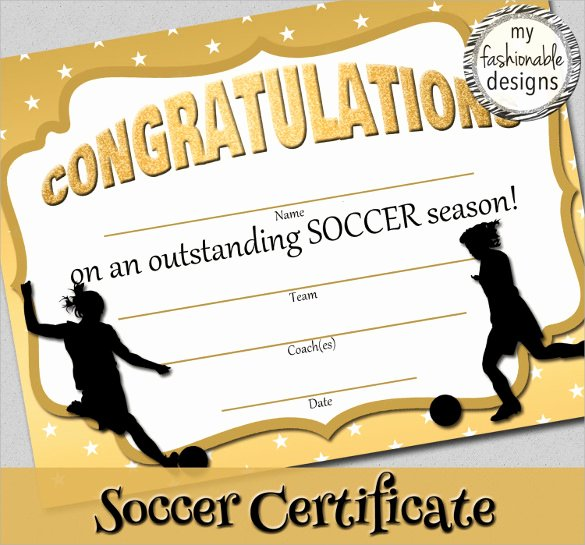Soccer Awards Certificates Templates Lovely soccer Certificate Template 18 Psd Ai Indesign Word