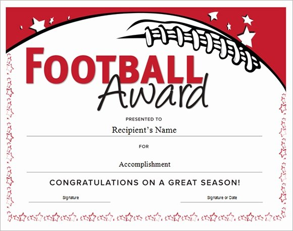 Soccer Awards Certificates Templates New Free 16 Sample Football Certificate Templates In Pdf