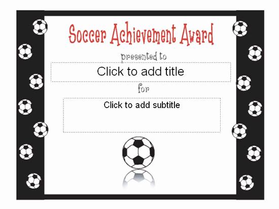 Soccer Awards Certificates Templates New soccer Achievement Award Certificate Free Certificate