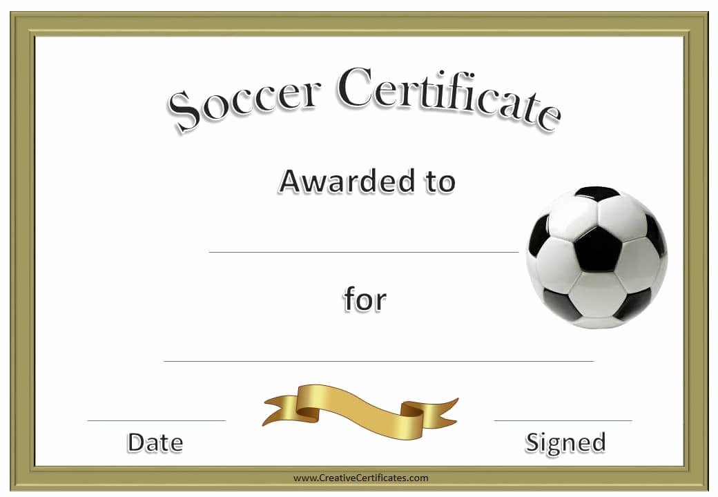 Soccer Certificate Award Ideas Beautiful 13 soccer Award Certificate Examples Pdf Psd Ai