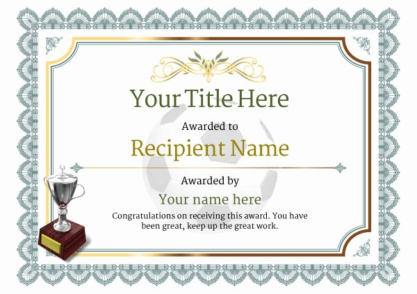 Soccer Certificate Award Ideas Inspirational Free Uk Football Certificate Templates Add Printable