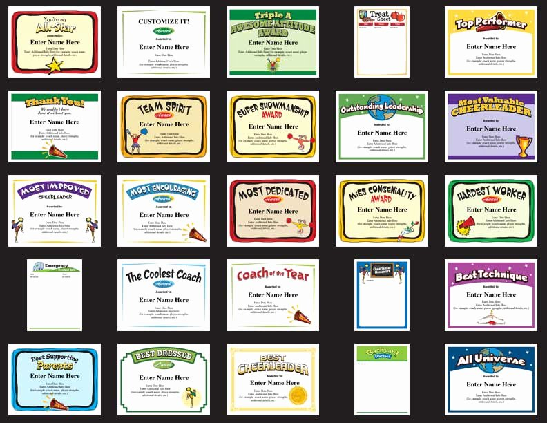 Soccer Certificate Award Ideas Lovely Cheerleading Certificates Free Awards Templates