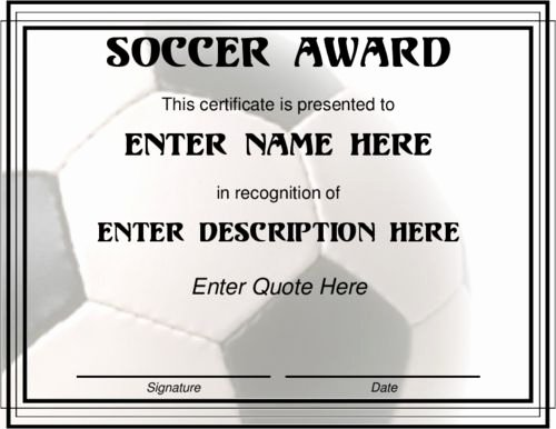 Soccer Certificate Award Ideas New Pinterest • the World's Catalog Of Ideas