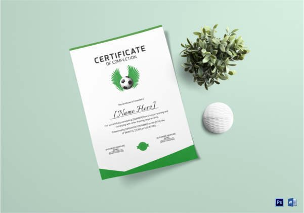 Soccer Certificate Template Word Lovely soccer Certificate 12 Word Psd Ai Indesign format