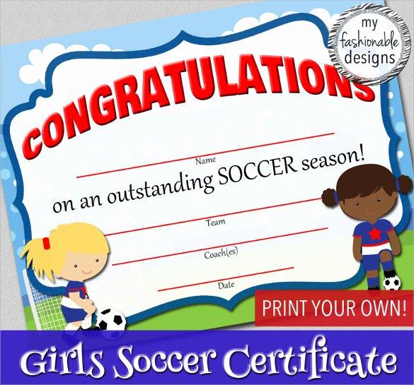 Soccer Certificate Template Word Lovely soccer Certificate Template 18 Psd Ai Indesign Word