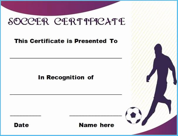 Soccer Certificate Template Word New soccer Certificate Templates for Word 9901