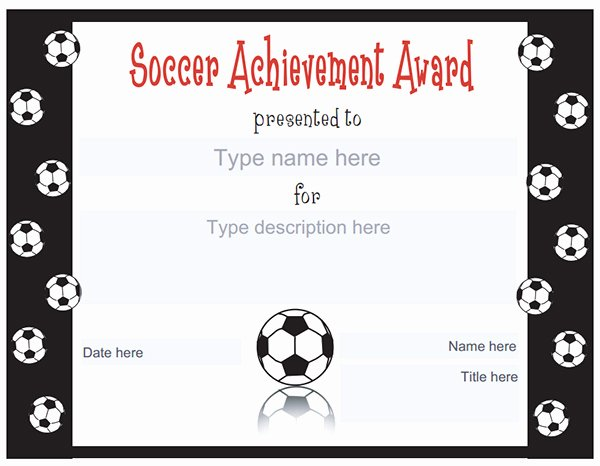 Soccer Certificate Templates for Word Awesome Printable Sports Certificates