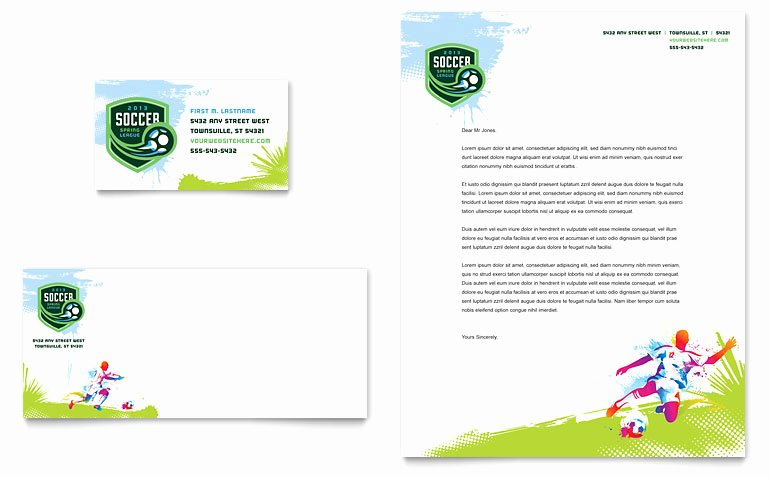 Soccer Certificate Templates for Word Best Of Youth soccer Business Card & Letterhead Template Word