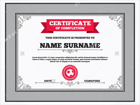 Soccer Certificate Templates for Word Lovely soccer Certificate Template 18 Psd Ai Indesign Word