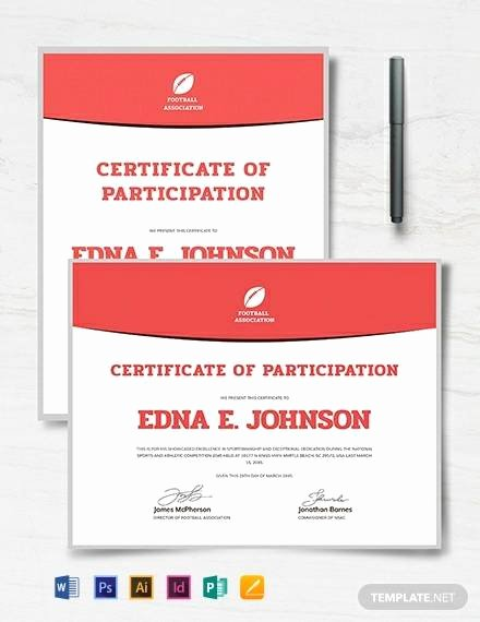 Soccer Certificate Templates for Word New soccer Certificate Template 18 Psd Ai Indesign Word