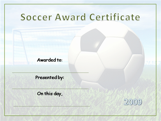 Soccer Certificate Templates for Word Unique soccer Certificate Templates Printable
