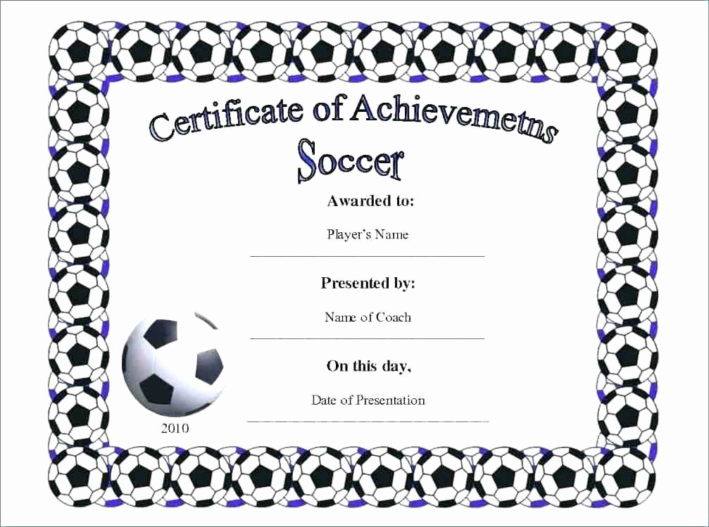 Soccer Certificate Word Template Beautiful soccer Award Certificate Template – Bookmylook