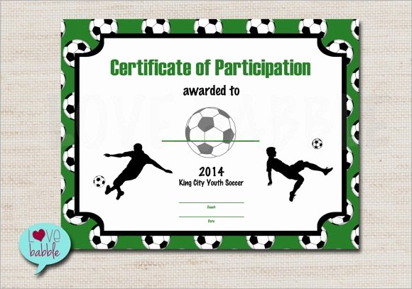 Soccer Certificate Word Template Elegant Free 16 Sample Football Certificate Templates In Pdf
