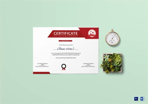 Soccer Certificate Word Template Inspirational soccer Certificate 13 Word Psd Ai Indesign format