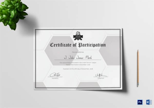Soccer Certificate Word Template Luxury soccer Certificate 13 Word Psd Ai Indesign format