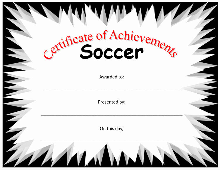 Soccer Certificates Microsoft Word Beautiful soccer Certificate Template Microsoft Word Templates