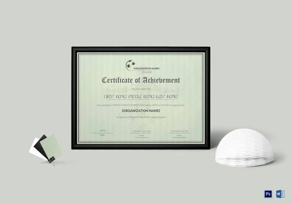 Soccer Certificates Microsoft Word Elegant soccer Certificate Template 18 Psd Ai Indesign Word
