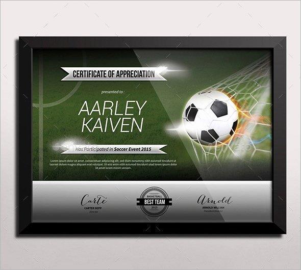 Soccer Certificates Microsoft Word Fresh Free 16 Sample Football Certificate Templates In Pdf