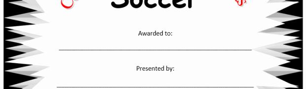 Soccer Certificates Microsoft Word Lovely Printable soccer Certificate ← Microsoft Word Templates