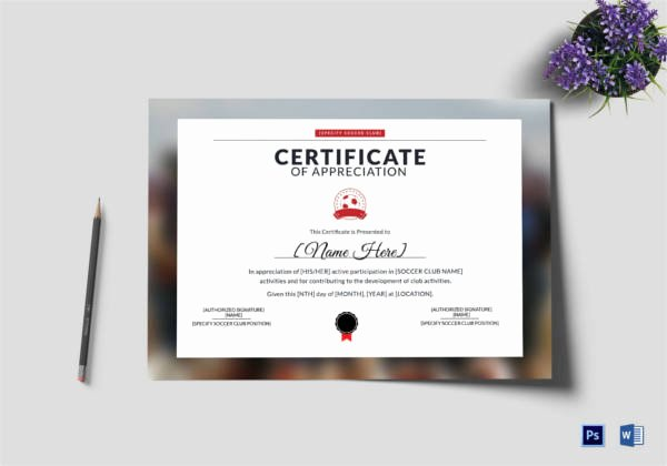 Soccer Certificates Microsoft Word Luxury soccer Certificate 13 Word Psd Ai Indesign format