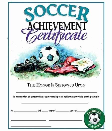 Soccer Certificates Microsoft Word Unique soccer Achievement Certificate Recognize soccer