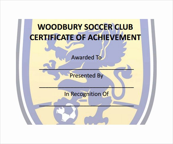 Soccer Certificates Microsoft Word Unique soccer Certificate Template 18 Psd Ai Indesign Word
