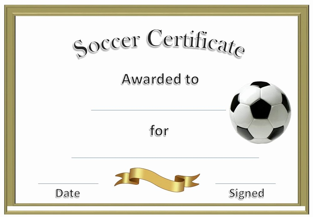 Soccer Participation Certificate Template Lovely soccer Award Certificates