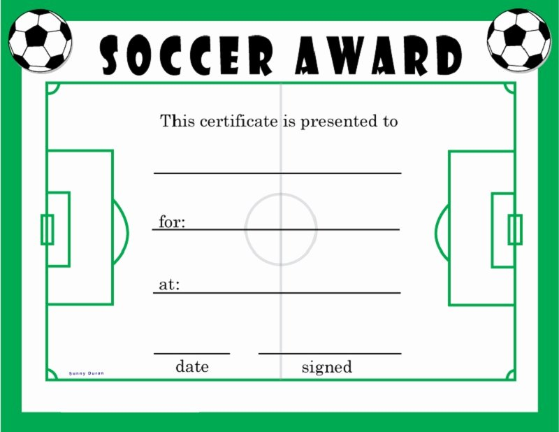 Soccer Participation Certificate Template Luxury soccer Award Certificates