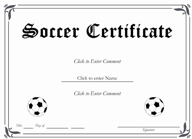 Soccer Participation Certificate Template New 29 Of Blank Award Certificate Template soccer
