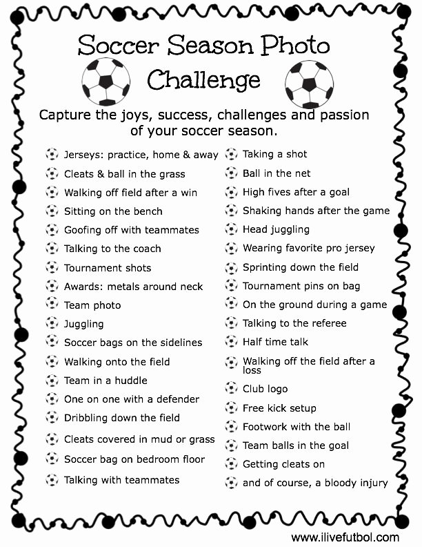 Soccer Team Award Ideas Fresh soccer Season Challenge soccer
