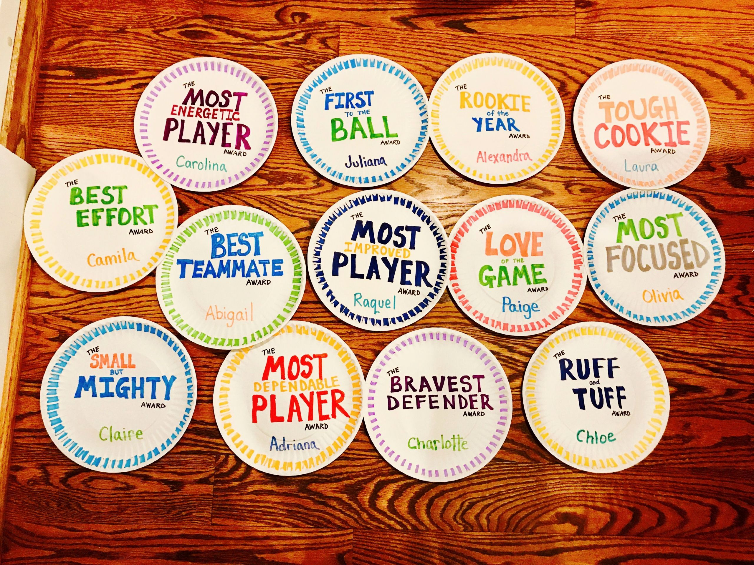 Soccer Team Award Ideas New Paper Plate Awards for soccer soccer