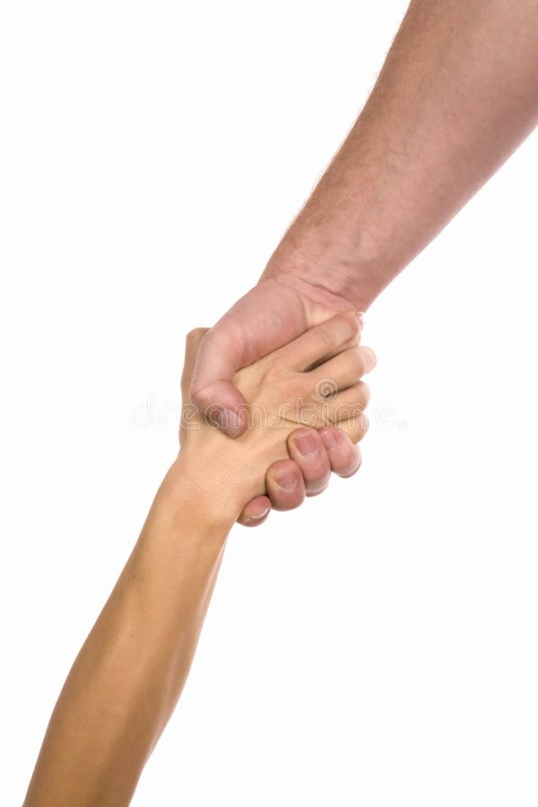 Soft Hands Achievement 2 Man Awesome Clasp Hands Helping Stock Image Image