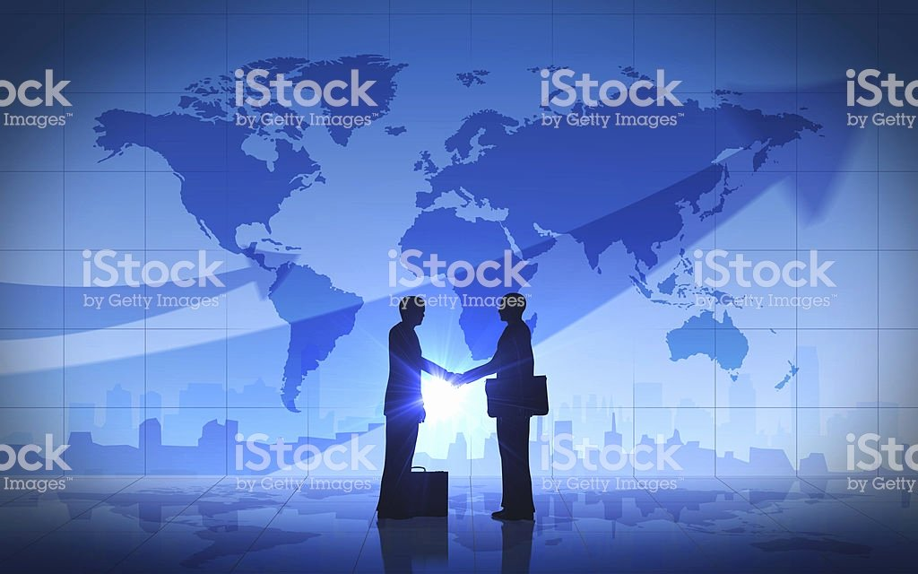 Soft Hands Achievement 2 Man Inspirational Two Business Man Shake Hand Silhouettes City with World