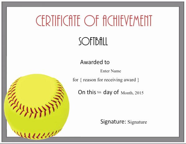 Softball Award Certificate Template Best Of Free softball Certificate Templates Customize Line