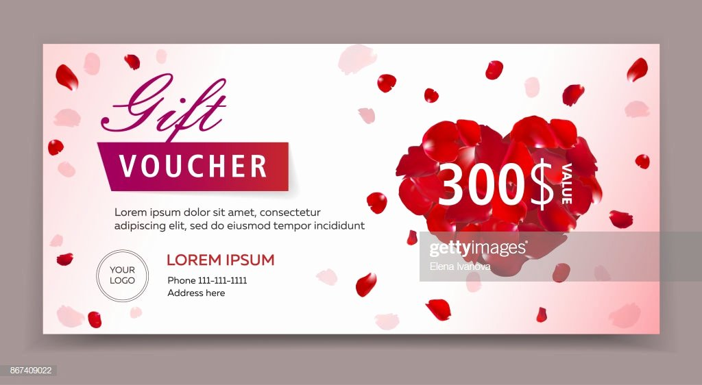 Spa Day Gift Certificate Template Awesome Gift Voucher Certificate Coupon Template for Valentines