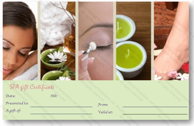 Spa Day Gift Certificate Template Best Of Business T Certificate Template