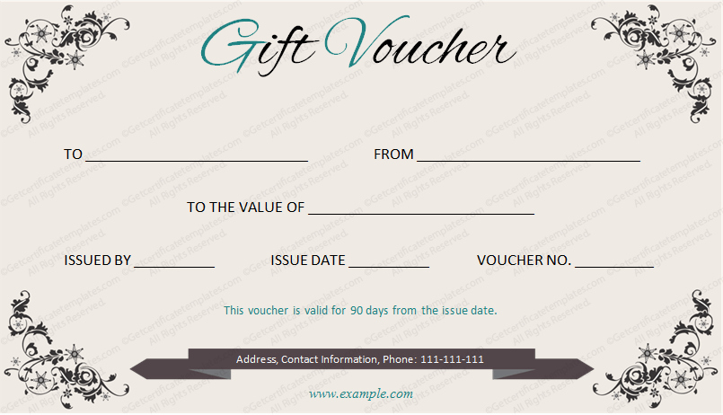 Spa Day Gift Certificate Template Luxury Elegant Gift Voucher Template by Get Certificates