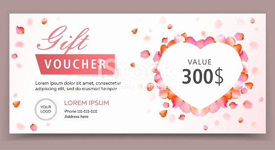 Spa Day Gift Certificate Template Luxury Gift Voucher Certificate Coupon Template for Valentines
