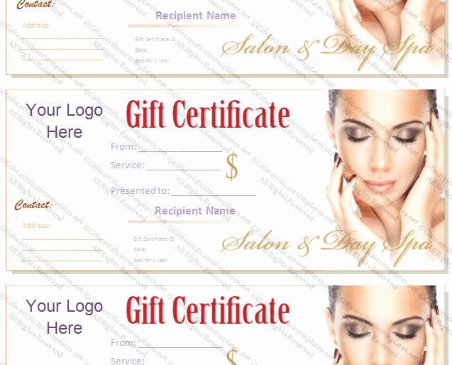 Spa Gift Certificate Template Beautiful Printable T Certificate Template Gift Certificate