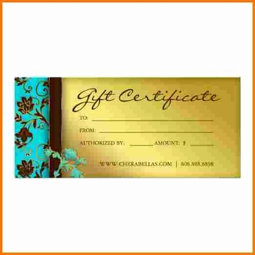 Spa Gift Certificate Template Best Of Spa T Certificate Template