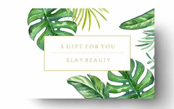 Spa Gift Certificate Template Fresh Pre Made Gift Card Template Spa Gift Certificate Boutique