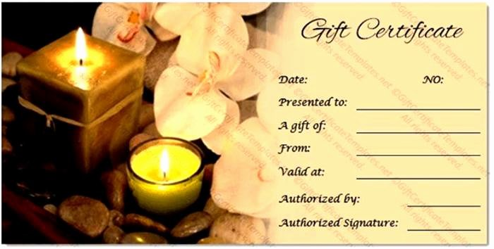 Spa Gift Certificate Template Inspirational Buy T Card Online